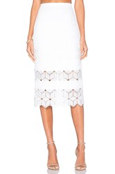 Rebecca Taylor Dia Lace Skirt White
