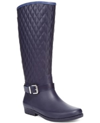 Guess Women's Lulu Rain Boots Women's Shoes Navy Blue