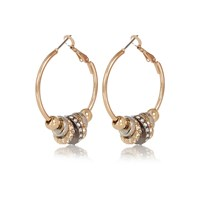 River Island Womens Gold Tone Multi Hoop Earrings