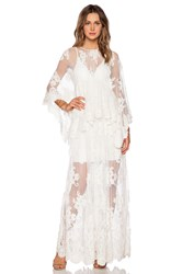 Alexis Lacey Lace Maxi Dress Ivory