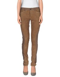 Superfine Denim Denim Trousers Women Light Brown