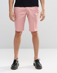 Religion Skinny Smart Shorts In Pink Pink