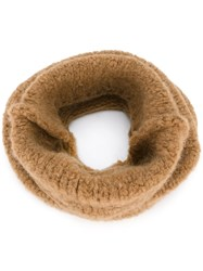 Erika Cavallini Knitted Scarf Nude And Neutrals