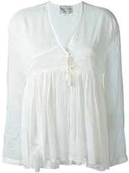 Forte Forte V Neck Blouse White