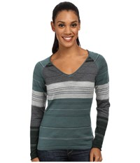 Smartwool Sulawesi Stripe Pullover Sea Pine Heather Women's Sweater Gray