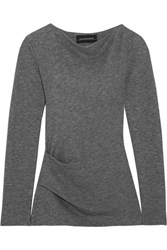By Malene Birger Estralita Gathered Stretch Jersey Top Gray