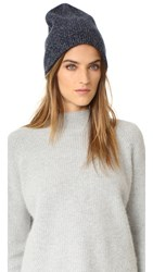 Rag And Bone Francesca Cashmere Beanie Navy