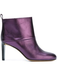 Golden Goose Deluxe Brand Metallic Ankle Boots Pink And Purple