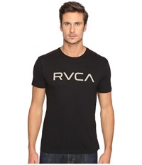 Rvca Big Vintage Wash Tee Black Men's T Shirt