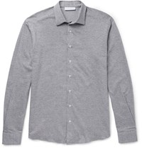Etro Houndstooth Cotton Shirt Gray