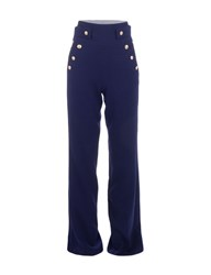 Morgan High Waisted Sailor Style Trousers Navy