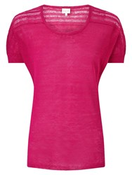 East Pointelle Detail Top Pink