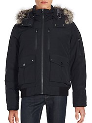 Michael Kors Faux Fur Trimmed Parka Jacket Black