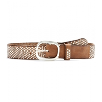Fausto Colato Studded Leather Belt Cognac