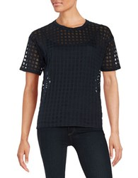 Michael Michael Kors Square Patterned Tee New Navy