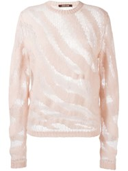 Roberto Cavalli 'Animalier' Sweater Pink And Purple