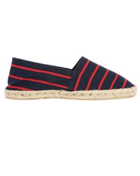 M.Studio Gil Navy Red Striped Espadrilles
