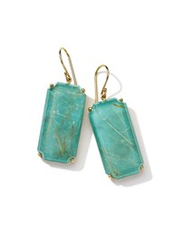 Ippolita Rock Candy Gelato 18K Quartz And Turquoise Doublet Drop Earrings Women's