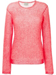 Forte Forte Striped Knit Sweater Pink And Purple
