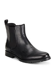 Saks Fifth Avenue Round Toe Leather Chelsea Boots Brown