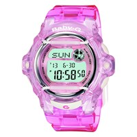 Casio Women's Baby G Resin Strap Watch Hot Pink