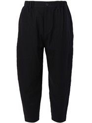 Ziggy Chen Classic Cropped Trousers Black