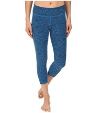 Beyond Yoga Capri Legging Aqua Navy Spacedye Women's Capri Blue