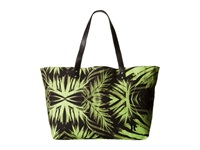 Hurley Tomboy Beach Tote Flash Lime Palm Tote Handbags Green