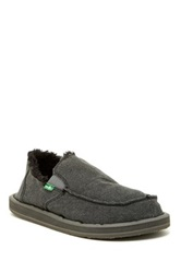 Sanuk Vagabond Chill Faux Fur Lined Slip On Shoe Gray