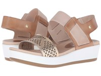 Pikolinos Mykonos W1g 0759 Nude Golden Pink Women's Wedge Shoes Brown