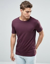 United Colors Of Benetton Basic Crew Neck T Shirt Burgundy 1H8 Red
