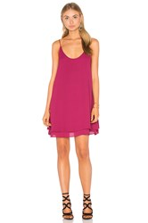 Krisa Double Layer Cami Mini Dress Fuchsia