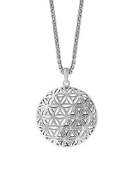 Effy Sterling Silver And Diamond Pendant Necklace