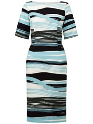 Fenn Wright Manson Madrid Stripe Dress Blue Multi