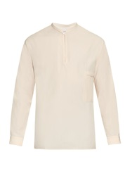Lemaire Grandad Collar Cotton Shirt
