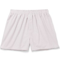 Sunspel Printed Cotton Boxer Shorts Red