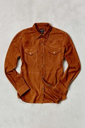 Cpo Suede Western Shirt Brown