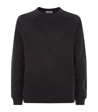 Versace Collection Embroidered Crew Neck Sweater Male