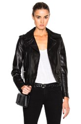 Saint Laurent Motorcycle Jacket In Black