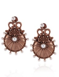 Sophia Kokosalaki Rose Gold Lunar Disc Earrings