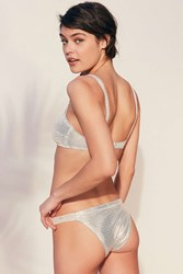 Out From Under Olivia Ruched Bikini Bottom White