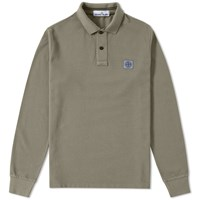 Stone Island Long Sleeve Regular Fit Polo Green