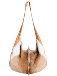 Dries Van Noten Springbok Leather Shoulder Bag