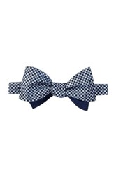 14Th And Union Silk Gramercy To Be Tied Reversible Bowtie Blue