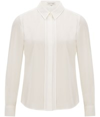 Austin Reed Ivory Satin Trim Placket Blouse