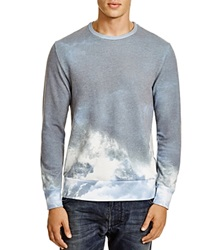 Sol Angeles Wave Crewneck Sweatshirt Hurricane Blue