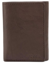 Fossil Ingram Extra Capacity Trifold Wallet Brown
