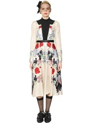 Antonio Marras Floral Printed Crepe And Twill Dress