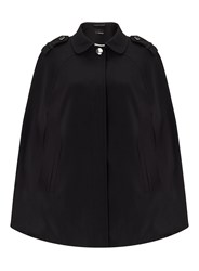 Miss Selfridge Black Collar Cape Coat