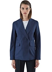 Yang Li Technical Double Breasted Blazer Jacket Navy